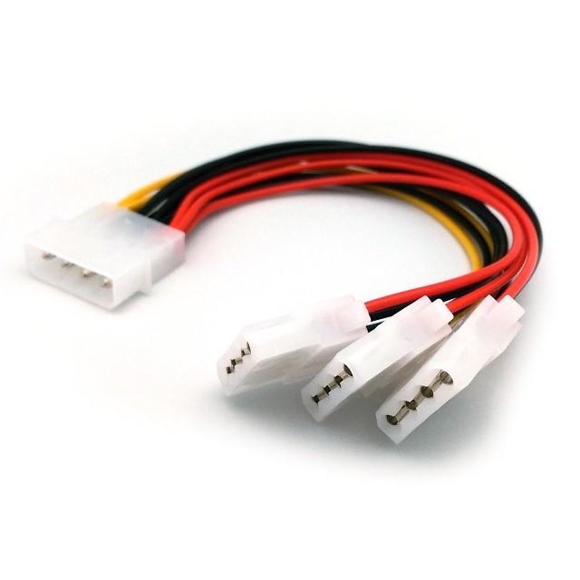 4pin(d型)一分三电源连接线